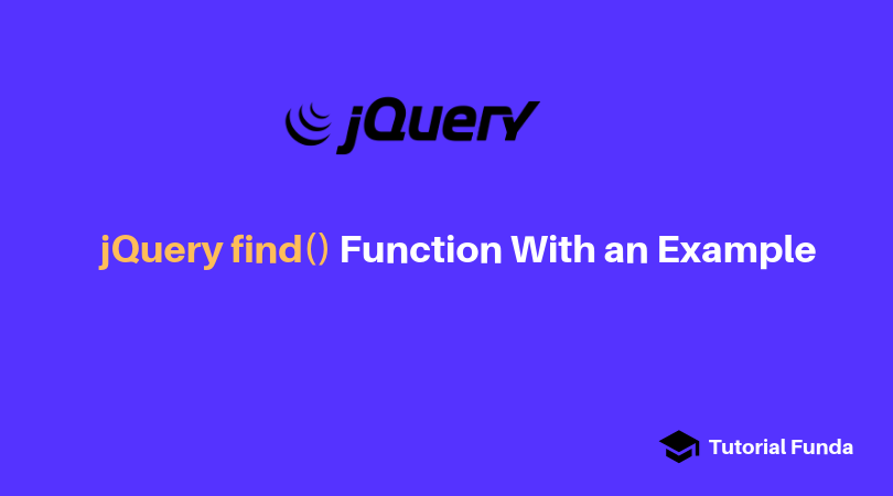 jQuery find function