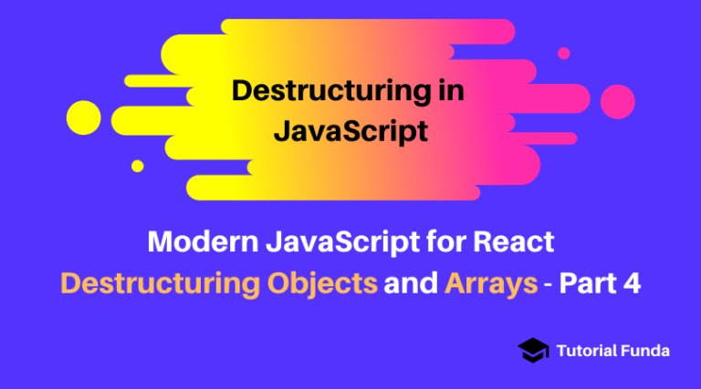 Destructuring Objects and Arrays-